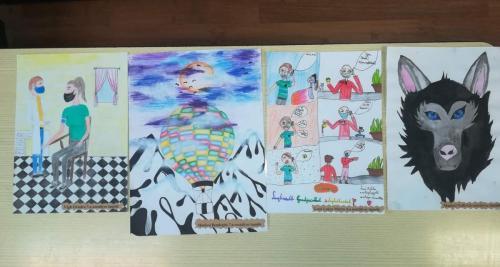 Diákjaink rajzai a Mentőállomáson